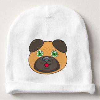 Gorro Para Bebê Beanie do algodão do bebê da cara do Pug