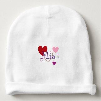 Gorro Para Bebê Beanie do algodão do bebê de HAMbyWG - corações