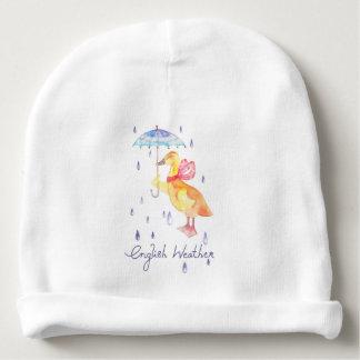 """Gorro Para Bebê """"Beanie do algodão do bebê do tempo inglês"""""""
