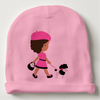 Gorro Para Bebê Beanie do algodão do rosa de bebê
