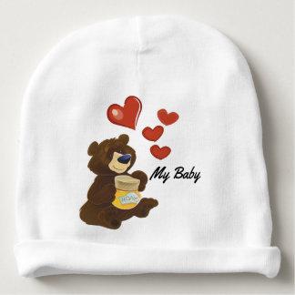 Gorro Para Bebê Beanie do algodão do urso de ursinho do bebê