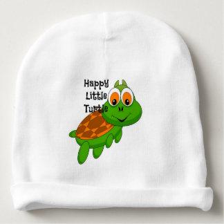 Gorro Para Bebê Beanie pequeno feliz do bebê da tartaruga