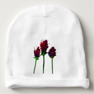 Gorro Para Bebê Beanie roxo bonito do bebê do design da flor