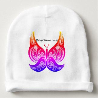 Gorro Para Bebê Beanie tribal do bebê da borboleta - nome feito