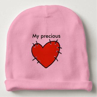 Gorro Para Bebê Beanie vermelho precioso do algodão do bebê do