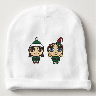 Gorro Para Bebê Beanies do algodão do bebê dos duendes do Natal