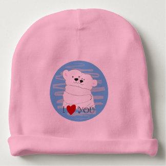 Gorro Para Bebê Bebê bonito polar do rosa do abraço do inverno do