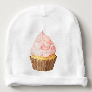 Gorro Para Bebê bebê cor-de-rosa do cupcake