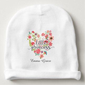 Gorro Para Bebê Bebé pequeno da princesa Chique Cor-de-rosa Floral