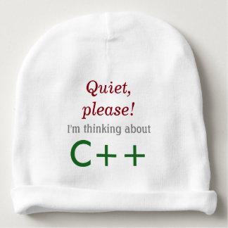 Gorro Para Bebê Bebê que pensa sobre C++