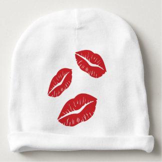 Gorro Para Bebê Beijos vermelhos do beijo da paixão do amor do