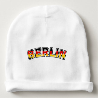 Gorro Para Bebê Berlin, text with Germany flag colors