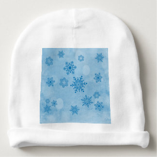 Gorro Para Bebê Bokeh do inverno, azul