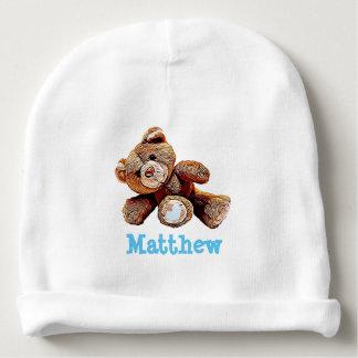 Gorro Para Bebê Boné azul personalizado do bebé do urso de ursinho