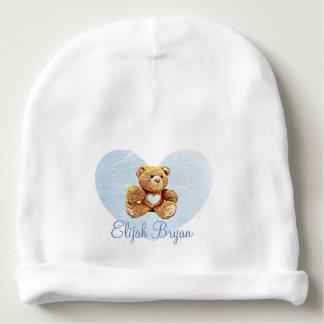 Gorro Para Bebê Boné azul personalizado dos bebês do urso de