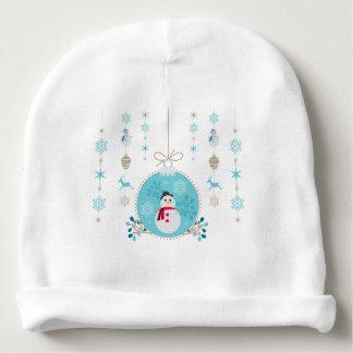 Gorro Para Bebê Boneco de neve com as decorações de suspensão do