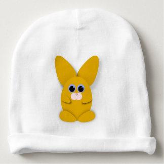 Gorro Para Bebê Bunn amarelo no chapéu branco do bebê