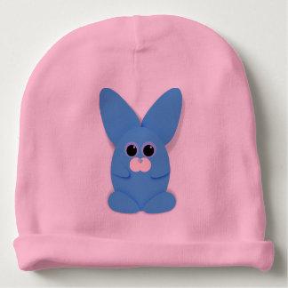 Gorro Para Bebê Bunn azul no chapéu cor-de-rosa do bebê