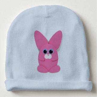 Gorro Para Bebê Bunn cor-de-rosa em um chapéu do bebê azul