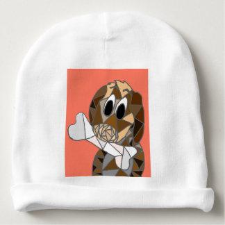 Gorro Para Bebê cão com osso