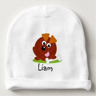 Gorro Para Bebê Cão de filhote de cachorro bonito do marrom do