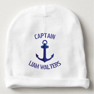 Gorro Para Bebê Capitão de navios náutico estilizado da âncora