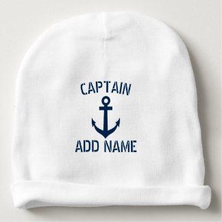 Gorro Para Bebê Capitão náutico do barco da âncora dos azuis