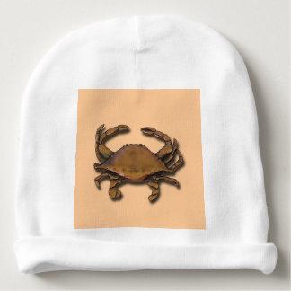 Gorro Para Bebê Caranguejo de cobre no Beanie de creme do bebê
