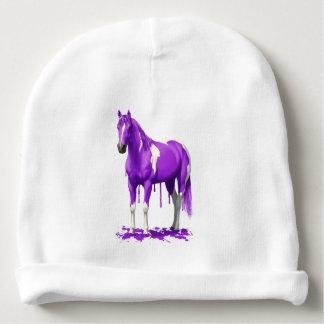 Gorro Para Bebê Cavalo molhado da pintura do gotejamento roxo