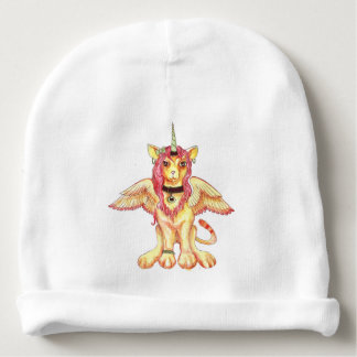 Gorro Para Bebê Cavalo Pegasus do unicórnio do leão do gato da