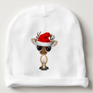 Gorro Para Bebê Cervos do bebê que vestem um chapéu do papai noel