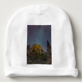 Gorro Para Bebê Céu nocturno do EL Capitan do vale de Yosemite