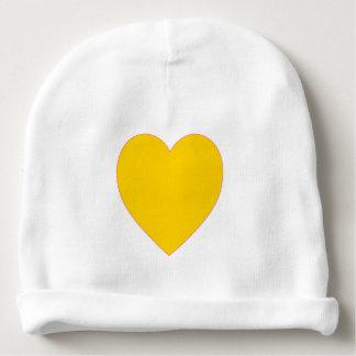 Gorro Para Bebê Chapéu amarelo do bebê do Beanie do coração