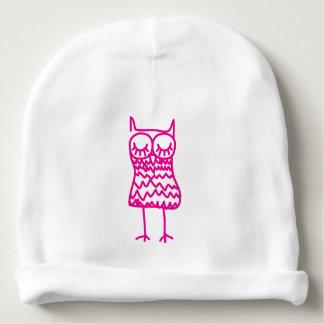 Gorro Para Bebê Chapéu cor-de-rosa do Beanie do bebê do algodão da