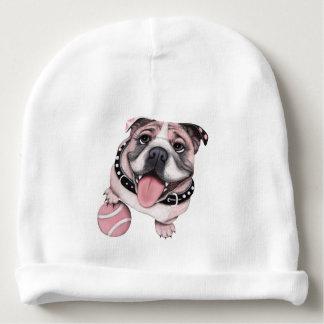 Gorro Para Bebê Chapéu cor-de-rosa do Beanie do bebê do buldogue