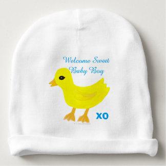 Gorro Para Bebê Chapéu Ducky amarelo do nome do hospital do bebé