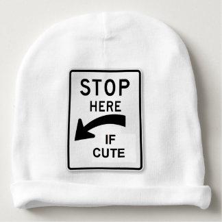 Gorro Para Bebê Chapéu engraçado do sinal de tráfego - pare aqui