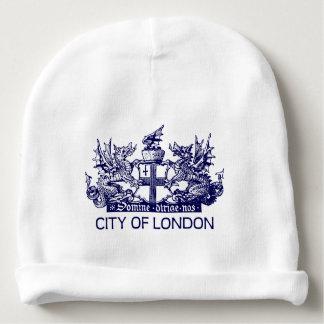 Gorro Para Bebê Cidade de Londres, vintage, brasão, Inglaterra