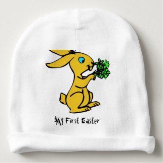 Gorro Para Bebê Coelho amarelo bonito para o felz pascoa bonito