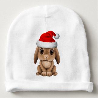 Gorro Para Bebê Coelho do bebê que veste um chapéu do papai noel