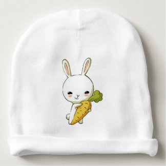 Gorro Para Bebê Coelho e cenoura