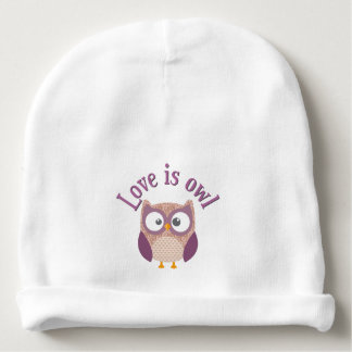 """Gorro Para Bebê Colecção """"Love is owl """""""