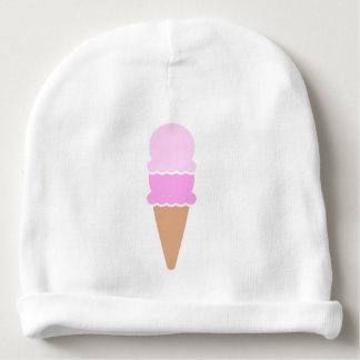 Gorro Para Bebê Cone dobro do sorvete da colher - rosa