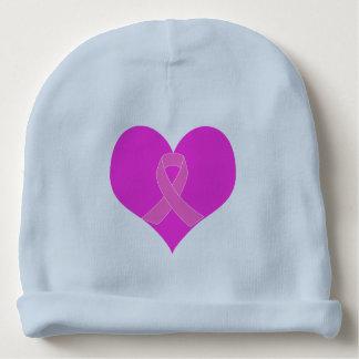 Gorro Para Bebê Coração e design da caridade do cancro da mama da