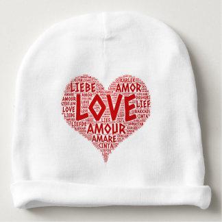 Gorro Para Bebê Coração ilustrado com palavra do amor