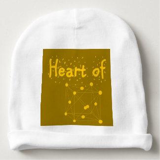 Gorro Para Bebê coração presente do equipamento do bebê do ouro do