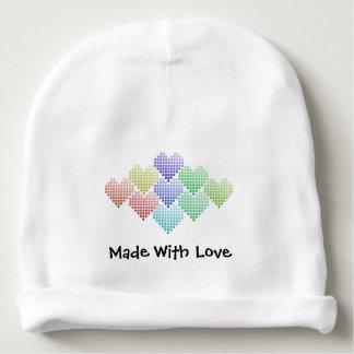 Gorro Para Bebê Corações do arco-íris