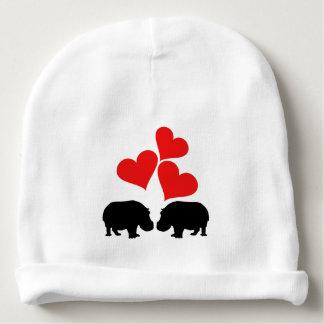 Gorro Para Bebê Corações & hipopótamos