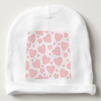 Gorro Para Bebê Corações rosas pálido