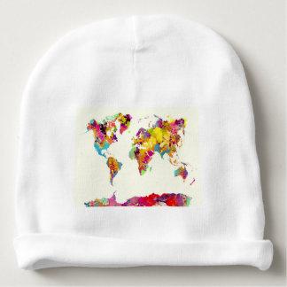 Gorro Para Bebê cores do mapa do mundo